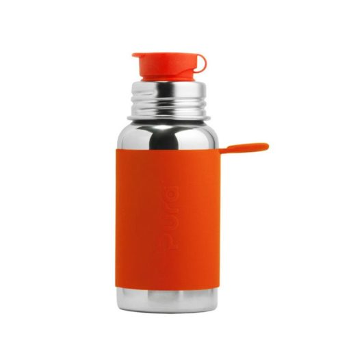 Termobutelka Sport z pomarańczową osłonką 475 ml
