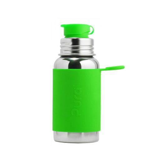 Termobutelka Sport z zieloną osłonką 475 ml